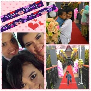 Happy Wedding, Haura n Mamat. Love you both so much! :*